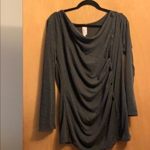 JMode XL Button Detail Tunic NWOT